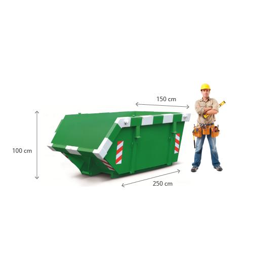 3m3 container huren - afmetingen