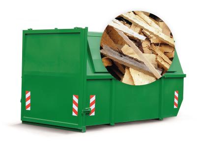 ContainerOnline houtcontainer 10 kuub 10m3