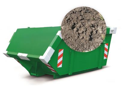 3m3 container huren - grond