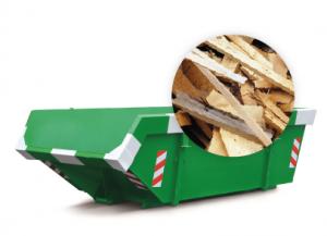 6m3 container huren - hout
