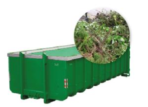 20m3 container huren - groenafval
