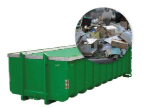 20m3 container huren - grofvuil