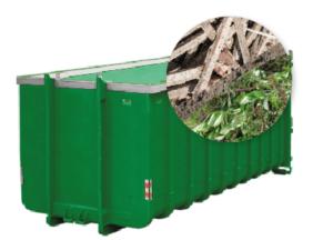 40m3 container huren - Tuinafval