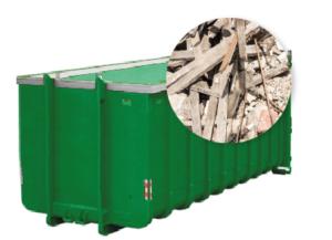 40m3 container huren - bouwafval
