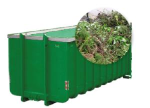 40m3 container huren - groenafval