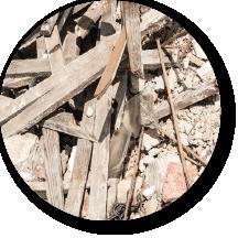 afvalsoort rond - bouw- en sloopafval - container huren