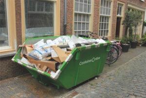 Hoe lang mag een afval container blijven staan?