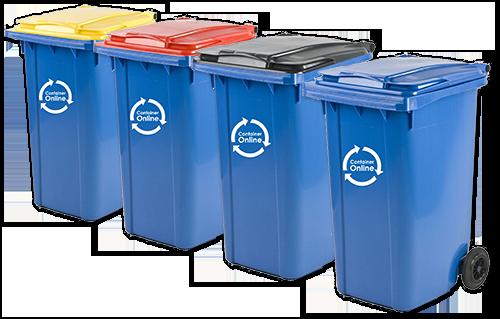 Afval scheiden rolcontainers voor bedrijfsafval