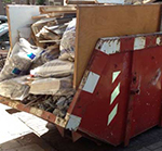 bouwcontainer verhogen platen